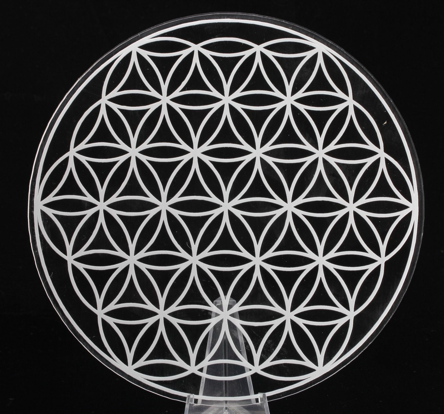 Flower Of Life Grid In Clear Acrylic