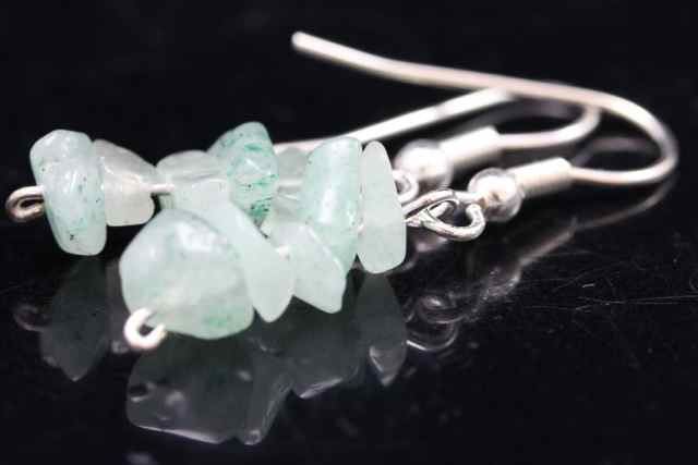 Green Aventurine Chip Earrings