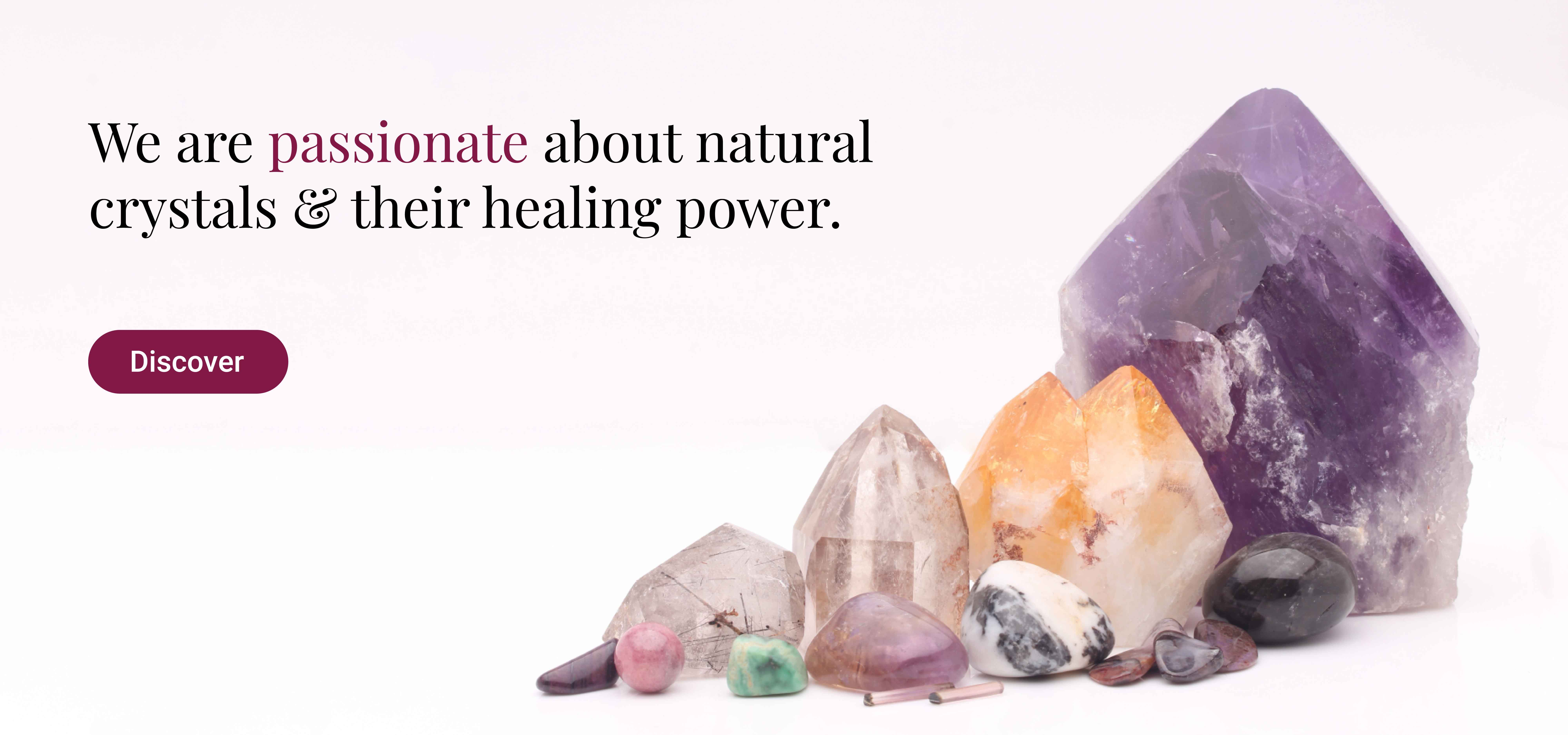 Natural healing crystals - shop now